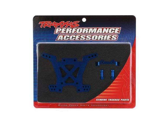 Traxxas Tra6838X Rear Aluminum Shock Tower - Blue