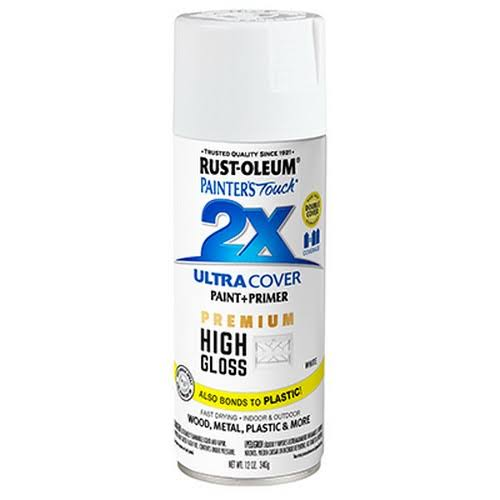 Rust-Oleum 331171 Painters Touch 2x 12 oz White Gloss Spray Paint