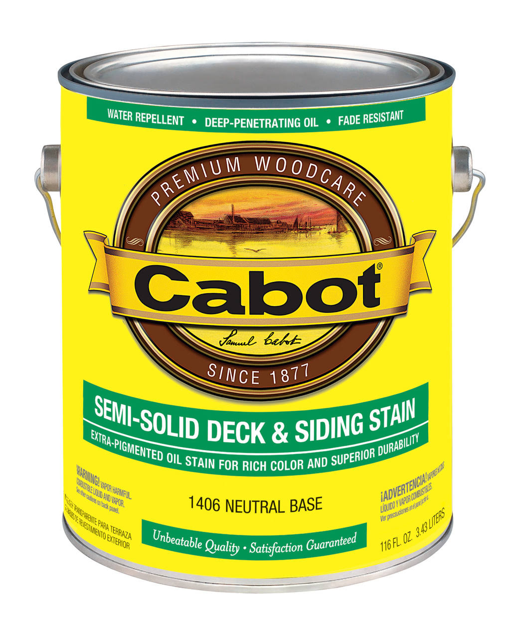 Cabot Deck & Siding Semi Solid Stain - 1406 Neutral Base, 1 Gal