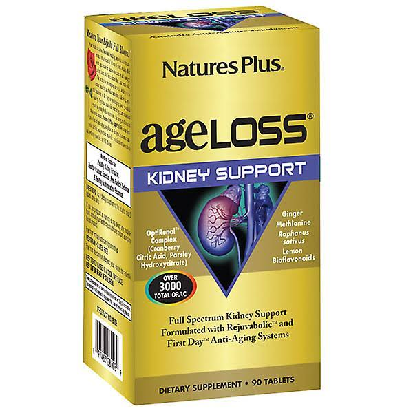 Nature's Plus AgeLoss Kidney Support Supplement Tablets - 90ct