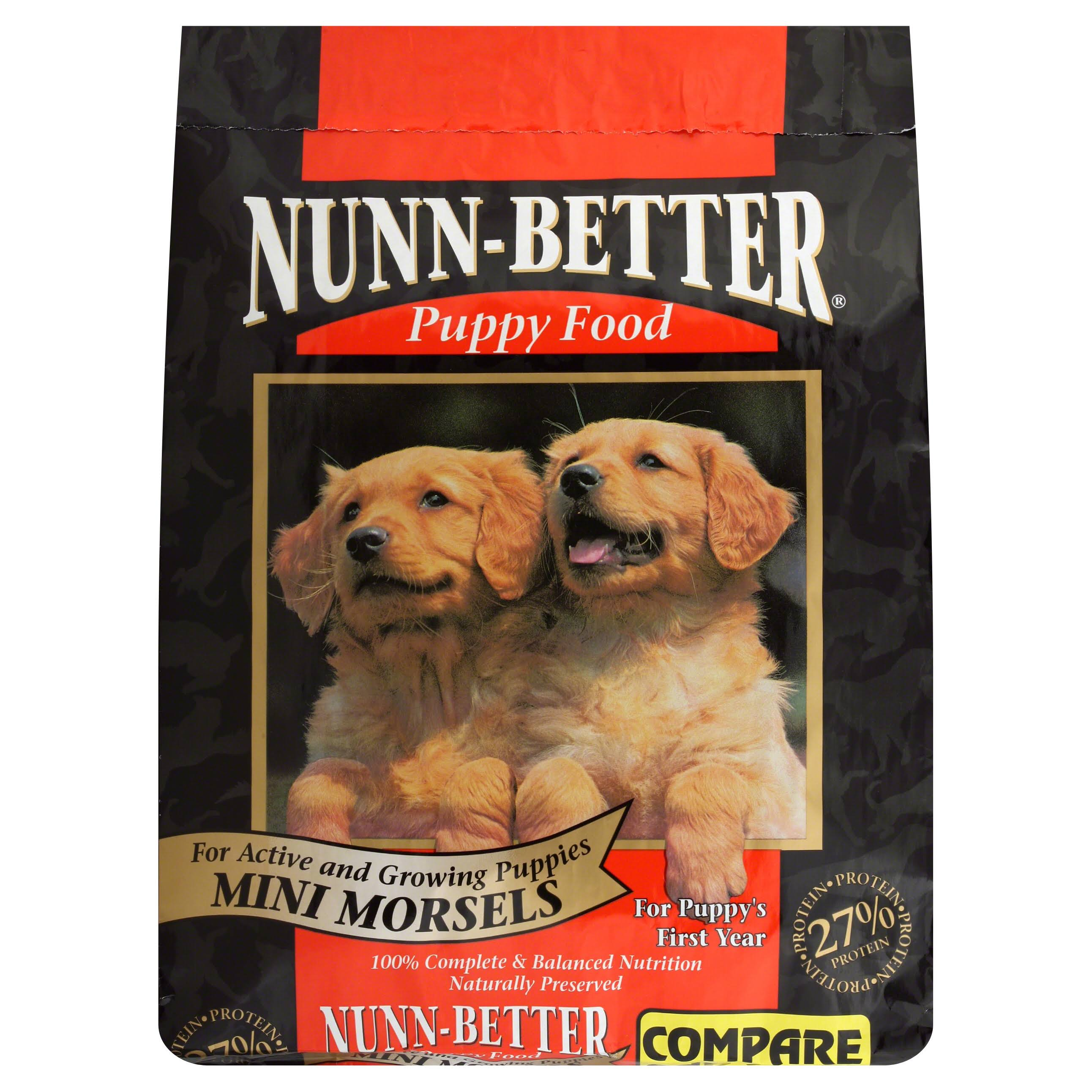 Nunn Better Puppy Food, Growth Formula, Mini Morsels - 16 lb