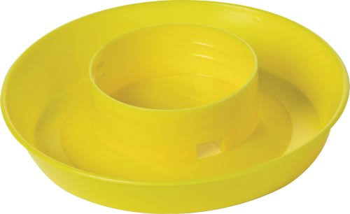 Miller Manufacturing Screw On Poultry Water Base - Yellow
