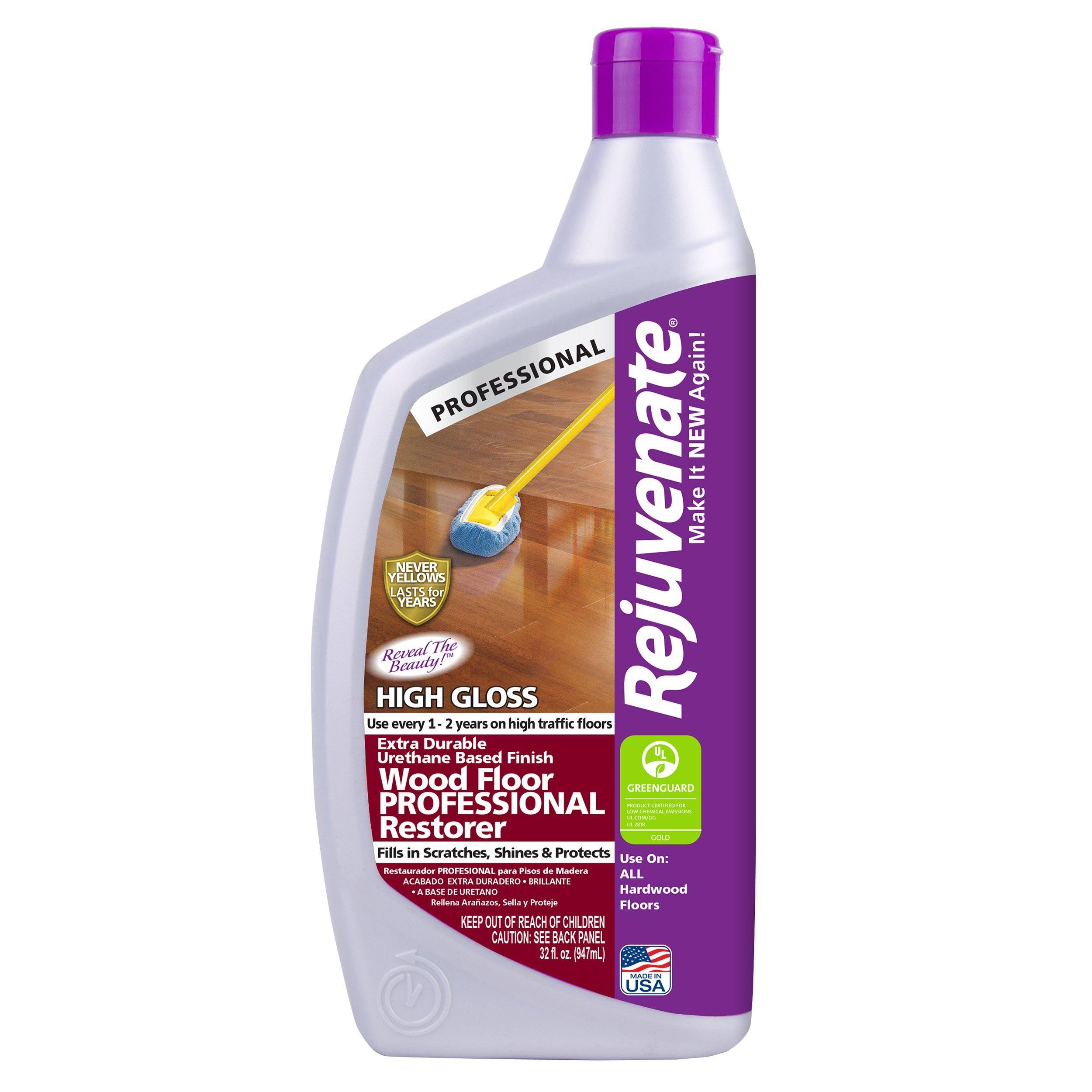 Rejuvenate Professional Wood Floor Restorer - with High Gloss, 950ml