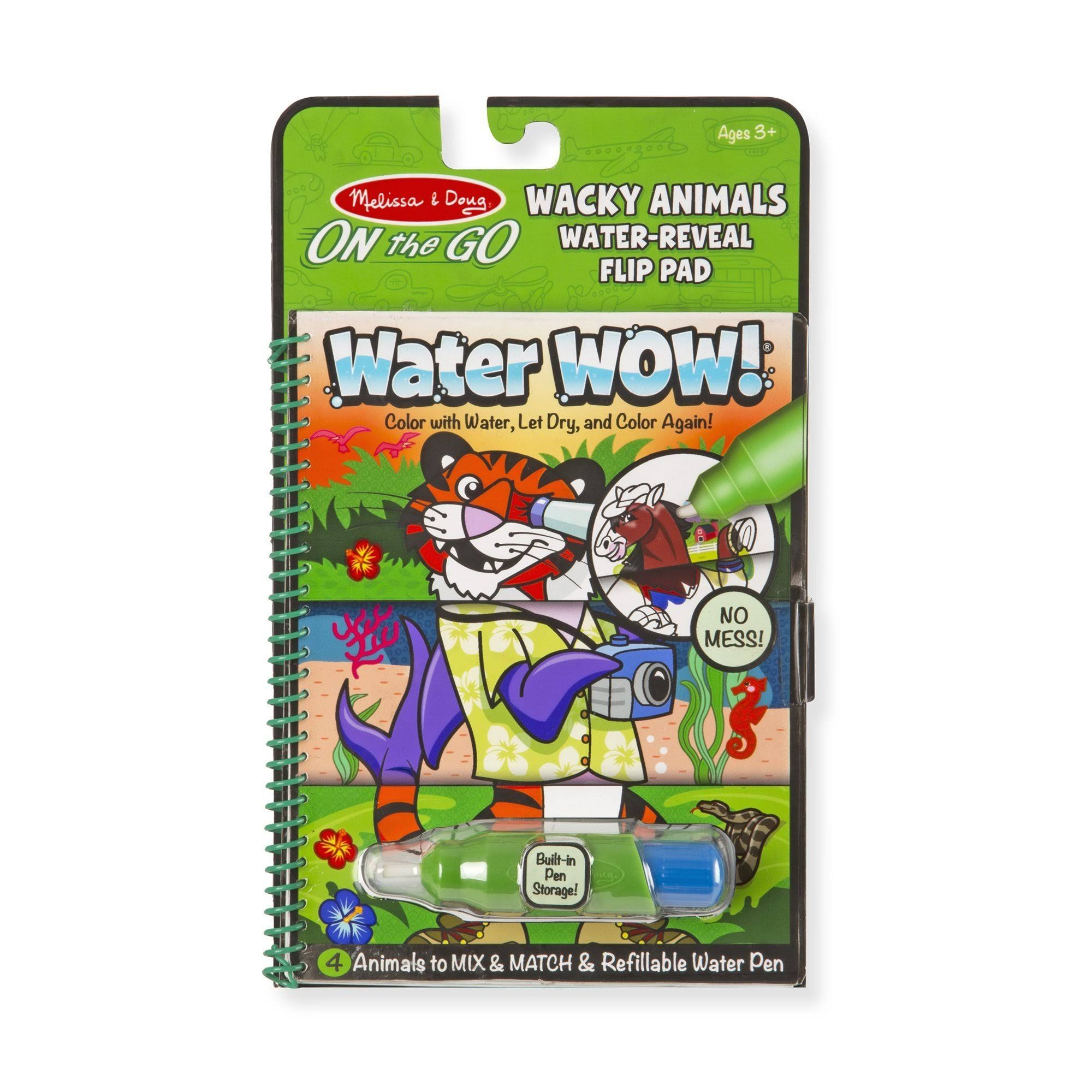 Melissa & Doug Water Wow! Wacky Animals Water Reveal Flip Pad