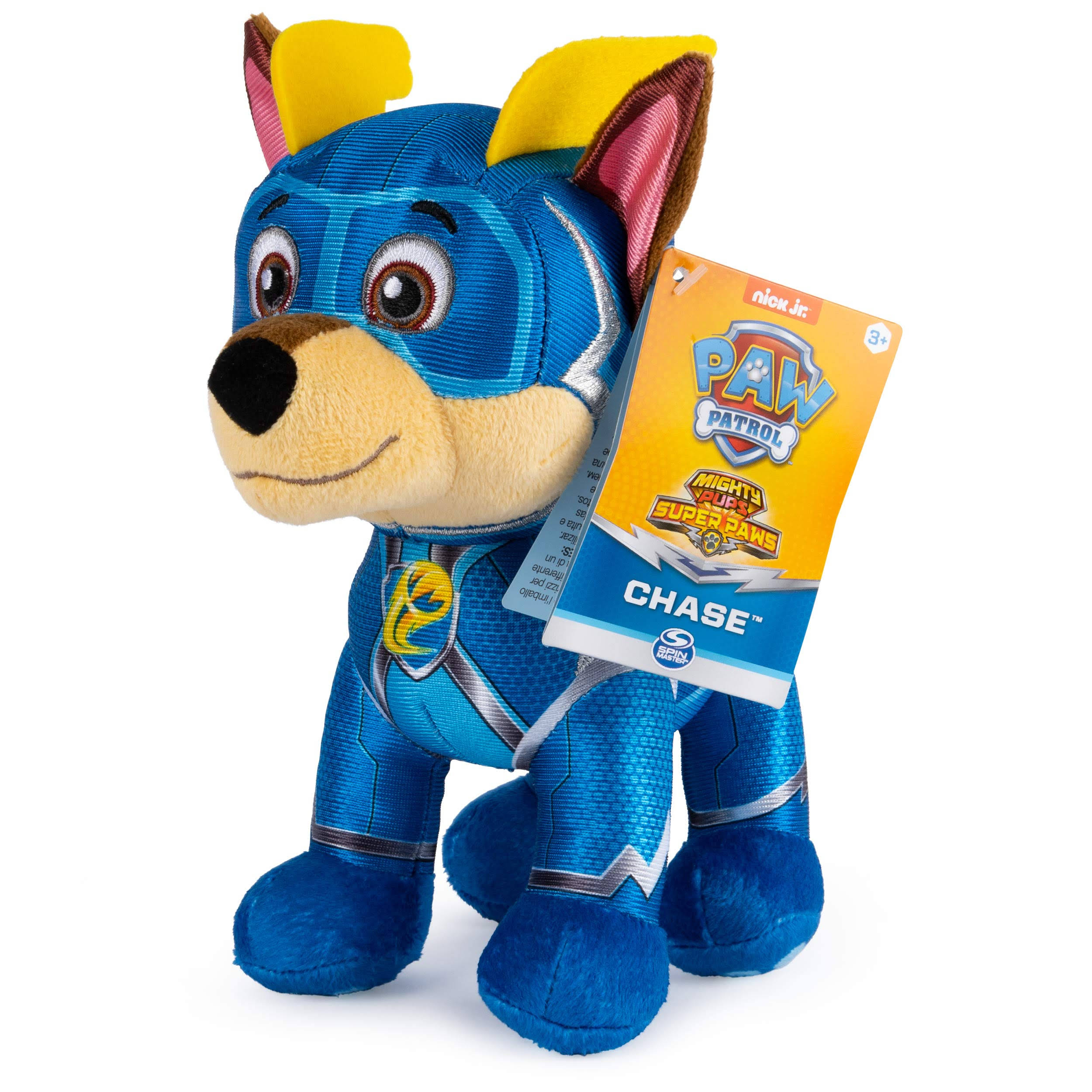 Paw Patrol Mighty Pups Super Paws Chase Spin Master Plush Stuffed Toy