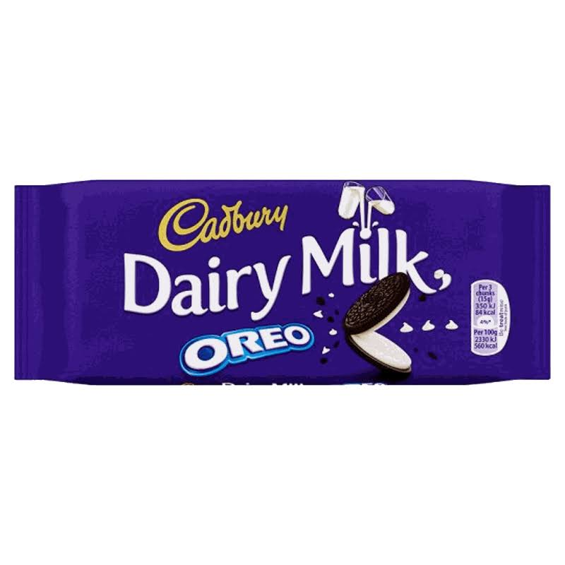 Cadbury Dairy Milk Chocolate Bar - 120g, Oreo