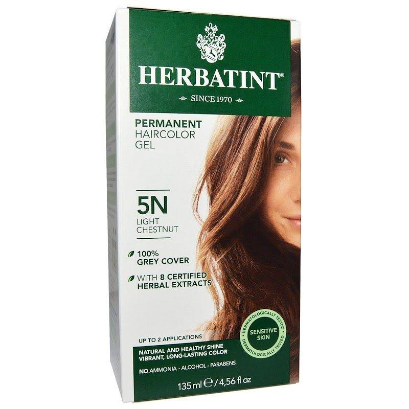 Herbatint Permanent Herbal Haircolour Gel - 5N Light Chestnut