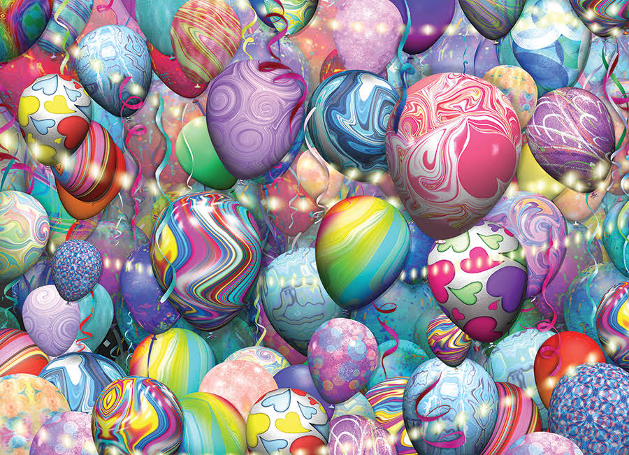 Cobble Hill Puzzles Party Balloons 500 Piece Balloons Jigsaw Puzzle