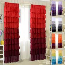 Pink Ruffle Curtain Topper by Online Get Cheap Ruffled Curtains Aliexpress Com Alibaba Group