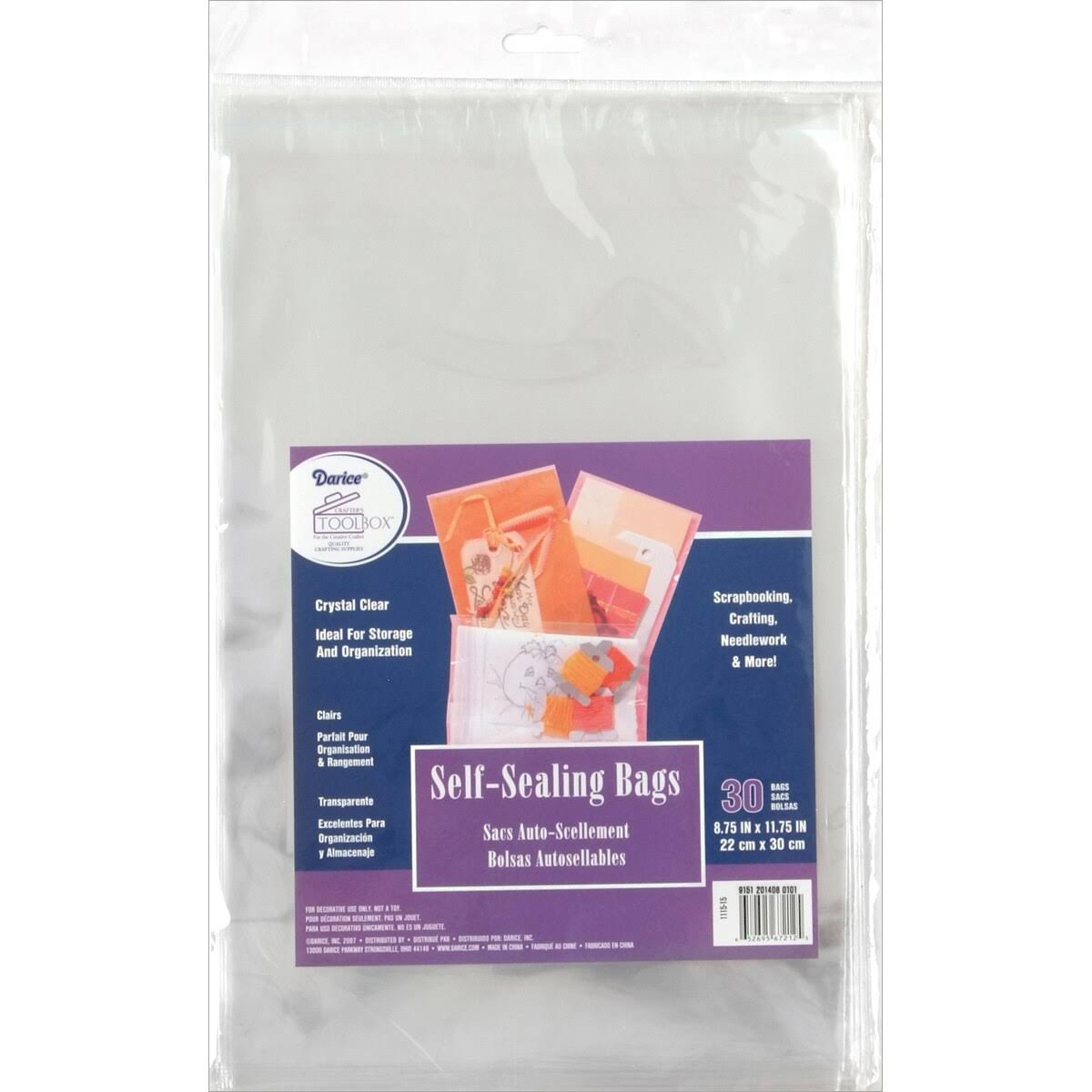 Darice Self-Sealing Storage Bags