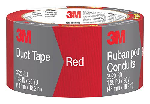 "Duct Tape, Red, 1.88"" x 20-yd., 3m, 3920-RD"