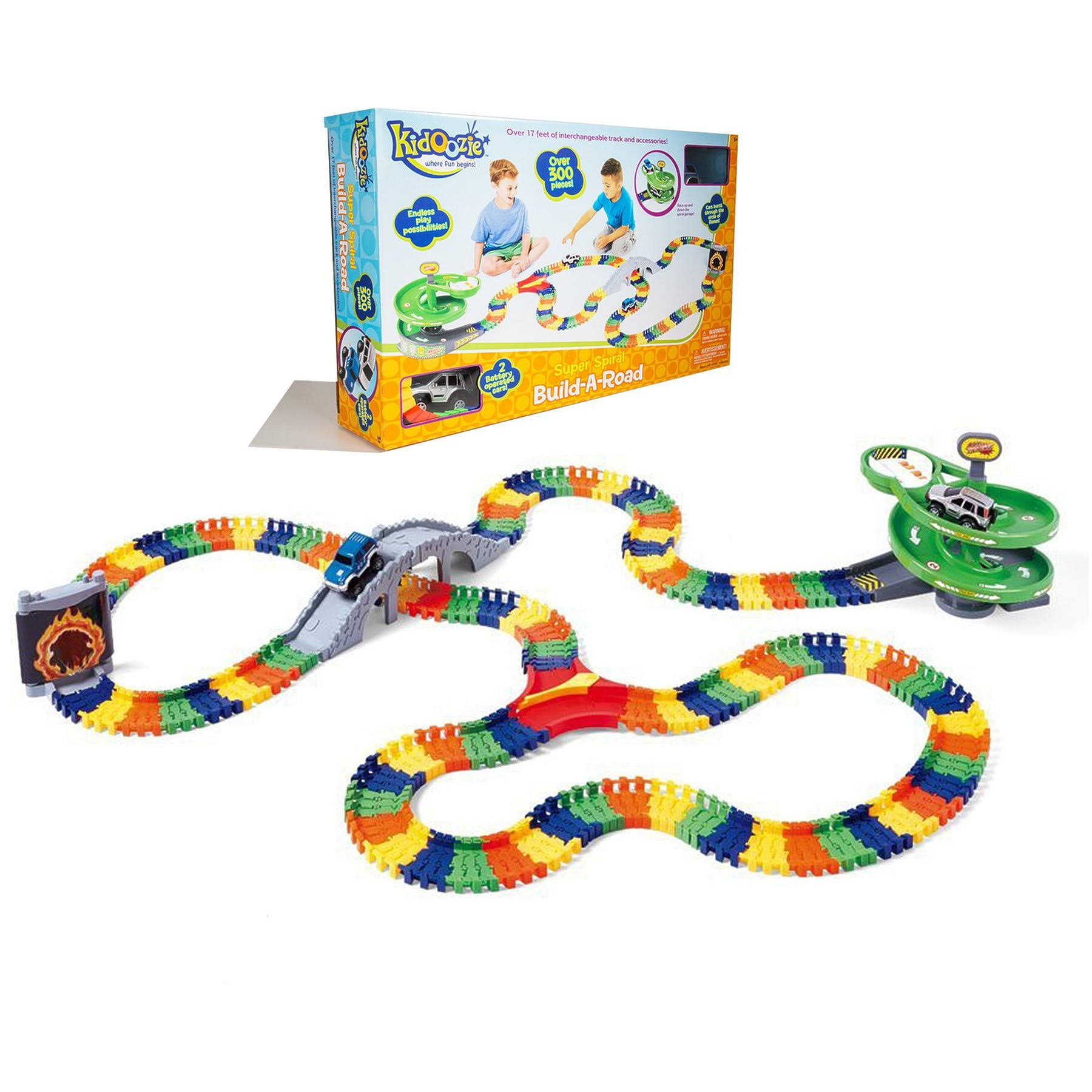 Kidoozie Super Spiral Build A Road Playset