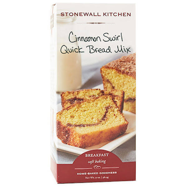 Stonewall Kitchen Quick Bread Mix, Cinnamon Swirl - 17 oz
