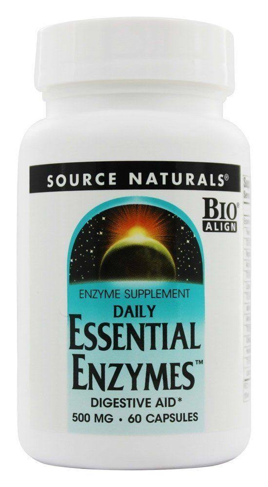 Source Naturals Daily Essential Enzymes Digestive Aid Capsules - 500mg, 60ct