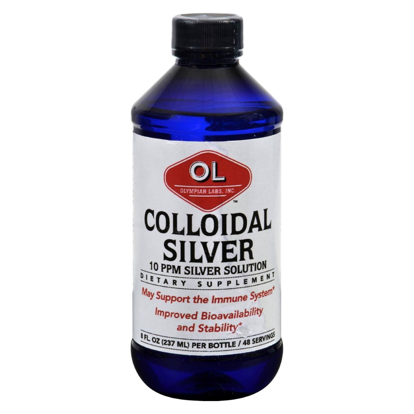 Olympian Labs Plata Coloidal Dietary Supplement - 8oz