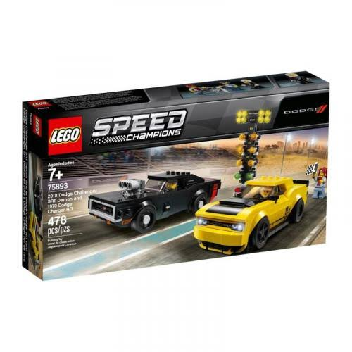 Lego 75893 Speed Champions 2018 Dodge Challenger SRT Demon and 1970 Dodge Charger R/T