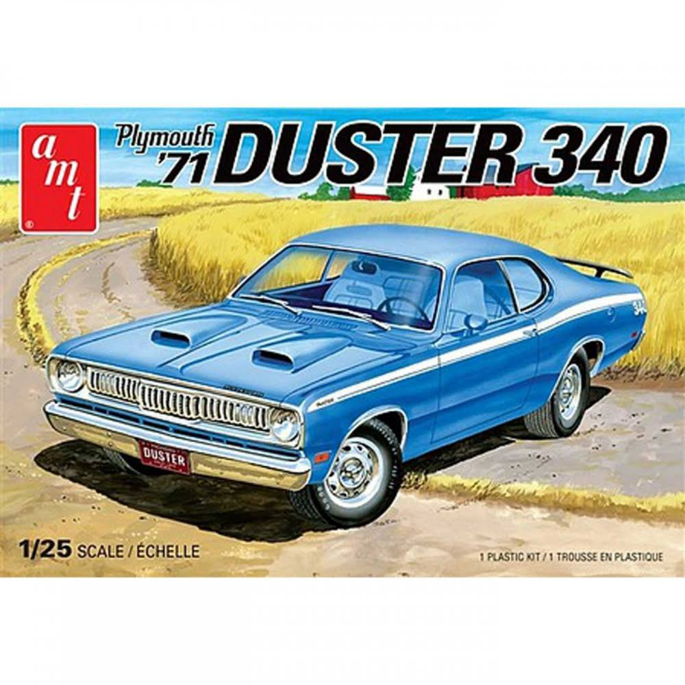 AMT 1971 Plymouth Duster 340 Plastic Model Kit - 1/25 scale