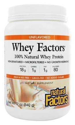 Natural Factors Whey Factors - Unflavored, 340g