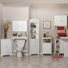 Tall Narrow Linen Cabinet With Doors by Bathroom Ideas White Stained Wooden Storage Cabinet For Bathroom