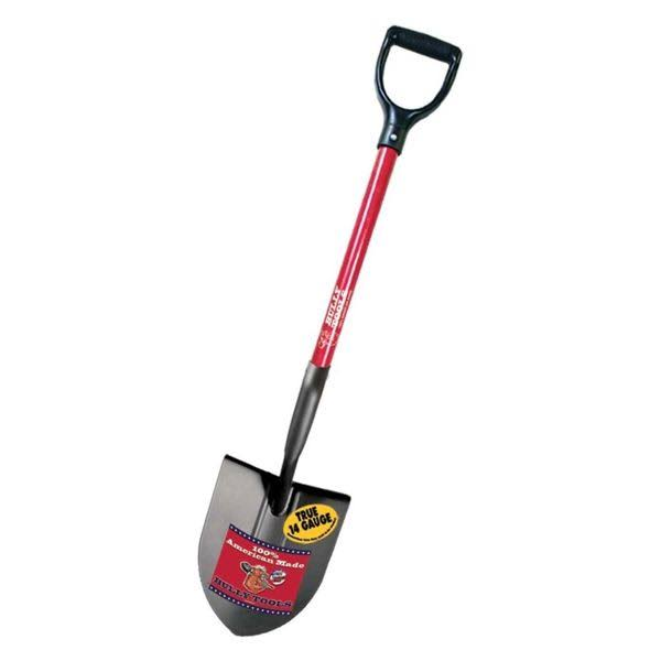 Bully Tools 82510 Round Point Shovel - 14ga, D-Grip Handle, 44""