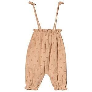 Rylee + Cru Blush Cross Embroidered Bubble Jumpsuit - Girl