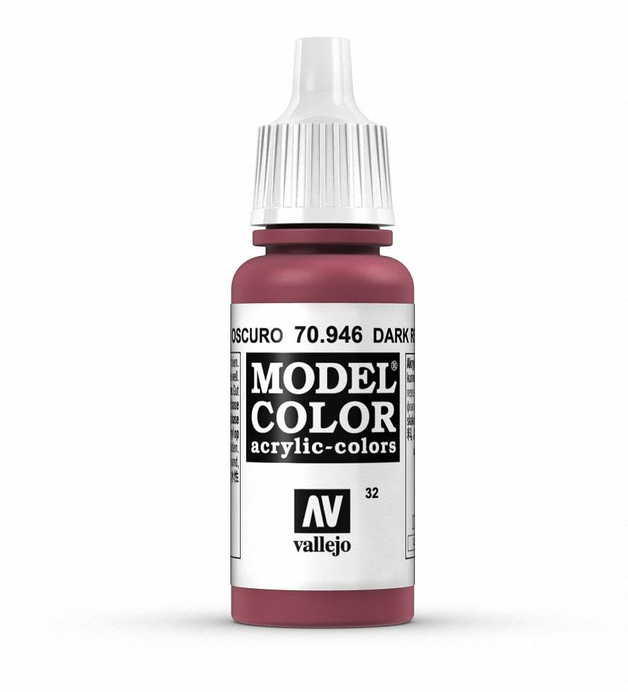 Vallejo Paint Model Color Acrylic Paint - 17ml, Dark Red
