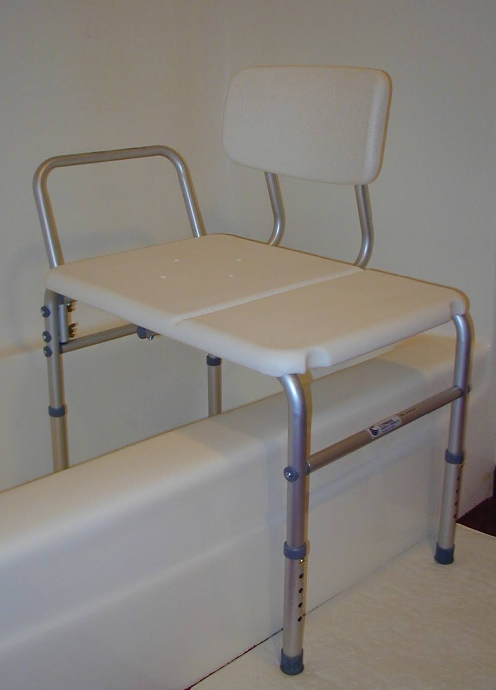 Sunmark Bathtub Transfer Bench - With Reversible Backrest