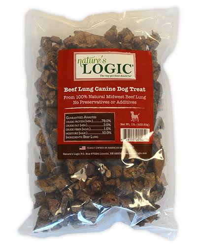 Natures Logic Beef Lung Dog Treat - 1lb