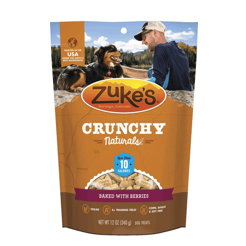 Zuke's Crunchy Naturals 5S Peanut Butter & Berries 12oz Dog Treats