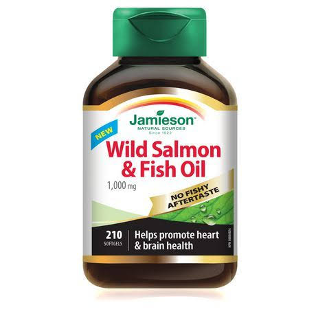 Jamieson Wild Salmon & Fish Oil - 1,000mg, 220 Softgels