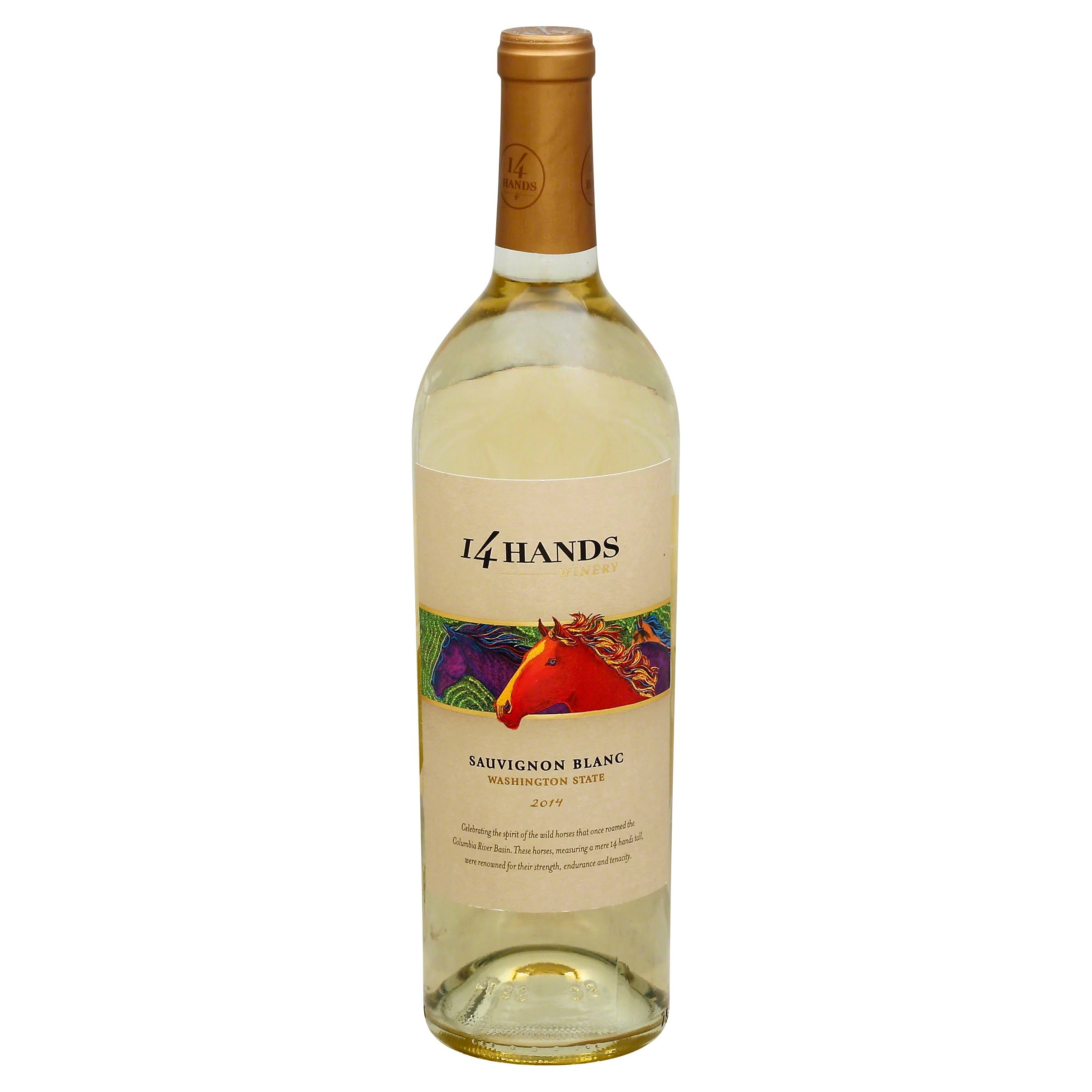 14 Hands Sauvignon Blanc, Washington State, 2014 - 750 ml