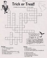 Haunted Halloween Crossword by 100 Halloween Crossword Any Ideas Crossword Coloring Page