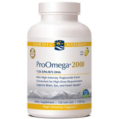 Nordic Naturals ProOmega 2000 Supplement - Lemon, 120 Count