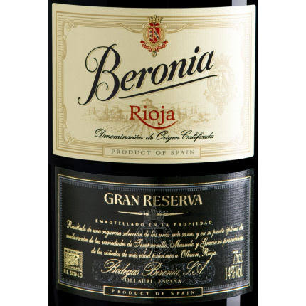 Beronia Gran Reserva Rioja Tempranillo Blend (Spain) 750ml