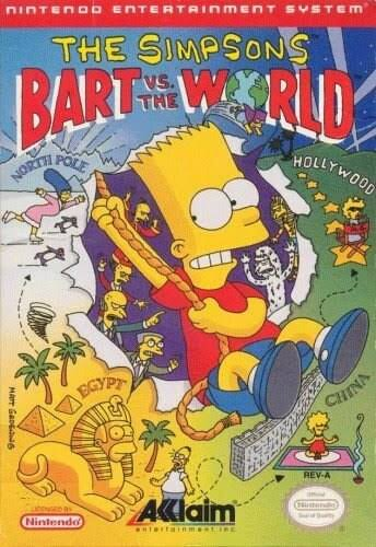 The Simpsons: Bart VS. The World - NES