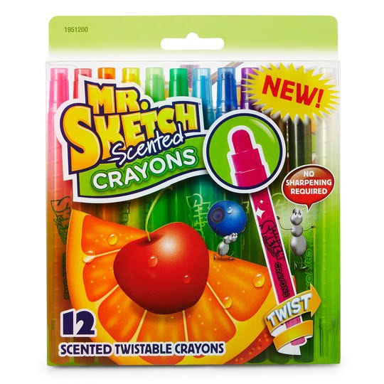Mr. Sketch Scented Twistable Crayons - 12ct