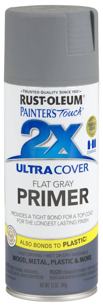 Rust-Oleum Painter's Touch 2x Primer - Flat Gray, 12oz