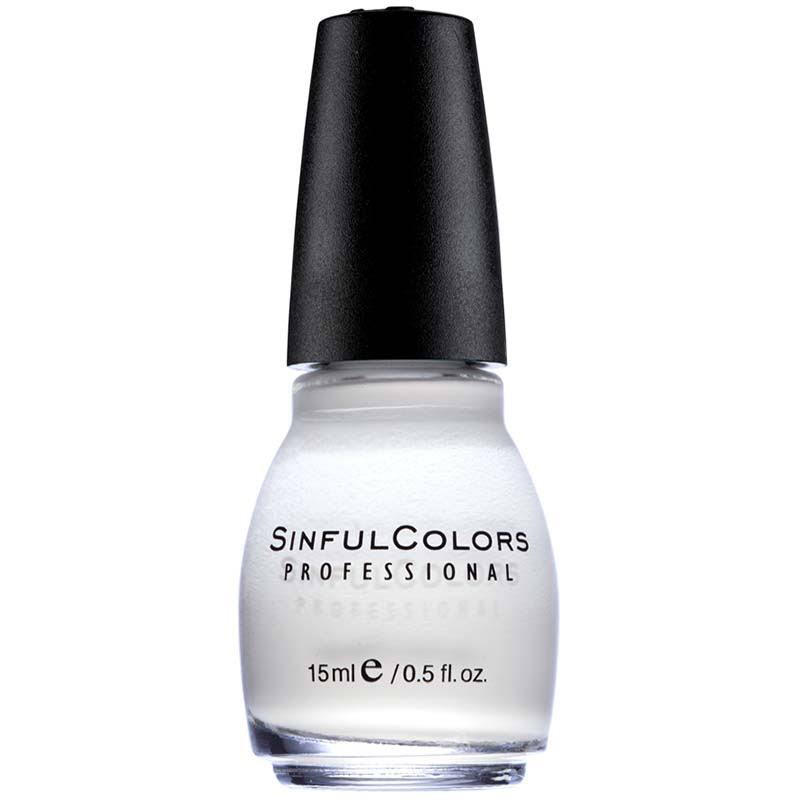 Sinful Colors Professional Nail Enamel - 101 Snow Me White, 0.5oz