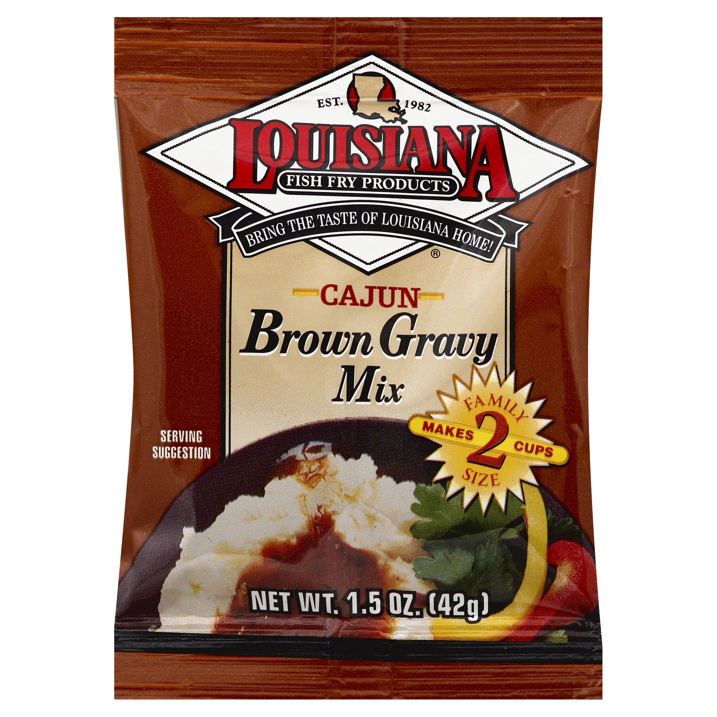 Louisiana Fish Fry Cajun Brown Gravy Mix - 1.5oz