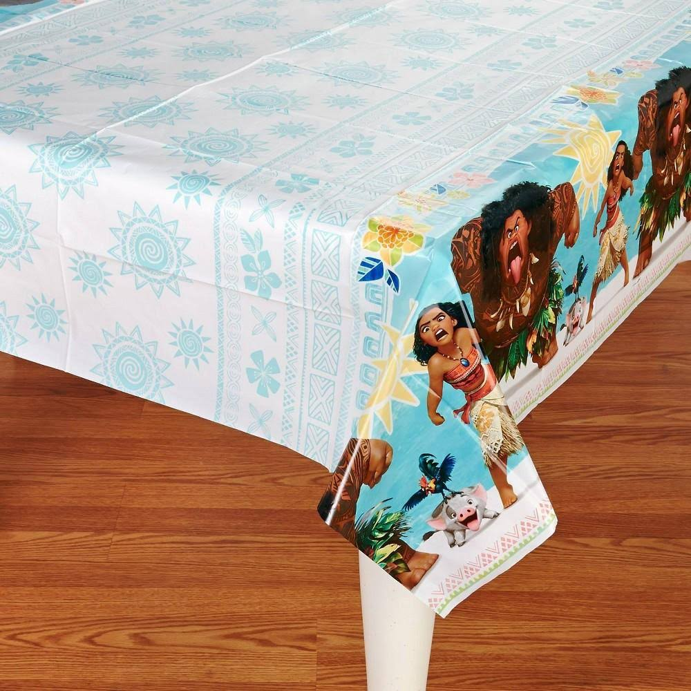 "American Greetings Plastic Table Cover - Moana, 54"" x 96"""