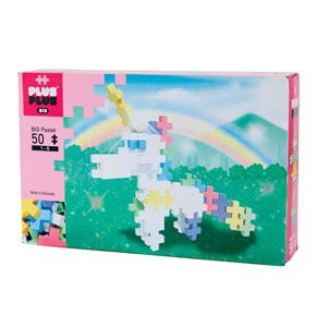 Plus Plus Big Pastel Unicorn Toys - 50pcs