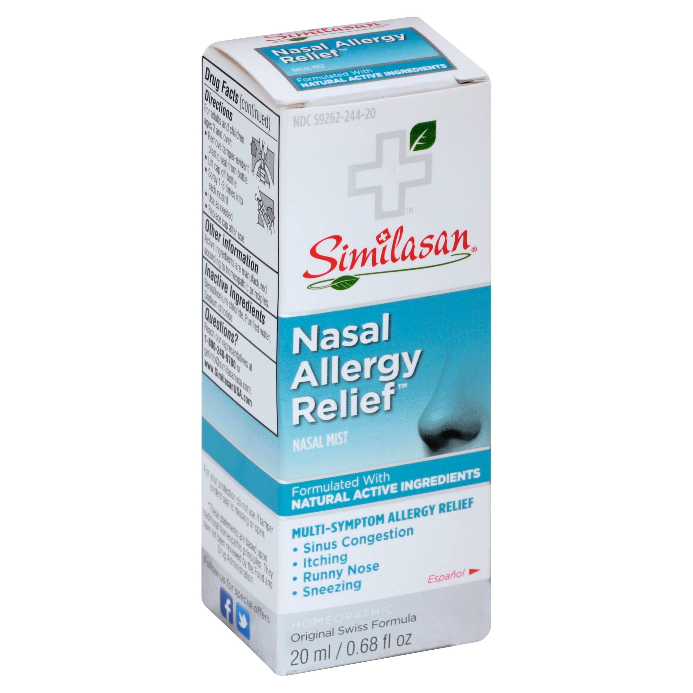 Similasan Nasal Allergy Relief Nasal Mist - 0.68oz