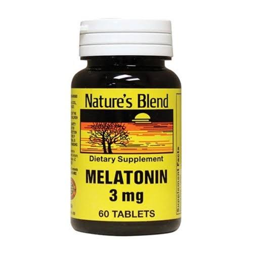 Nature's Blend Melatonin 3mg Tablets - x60