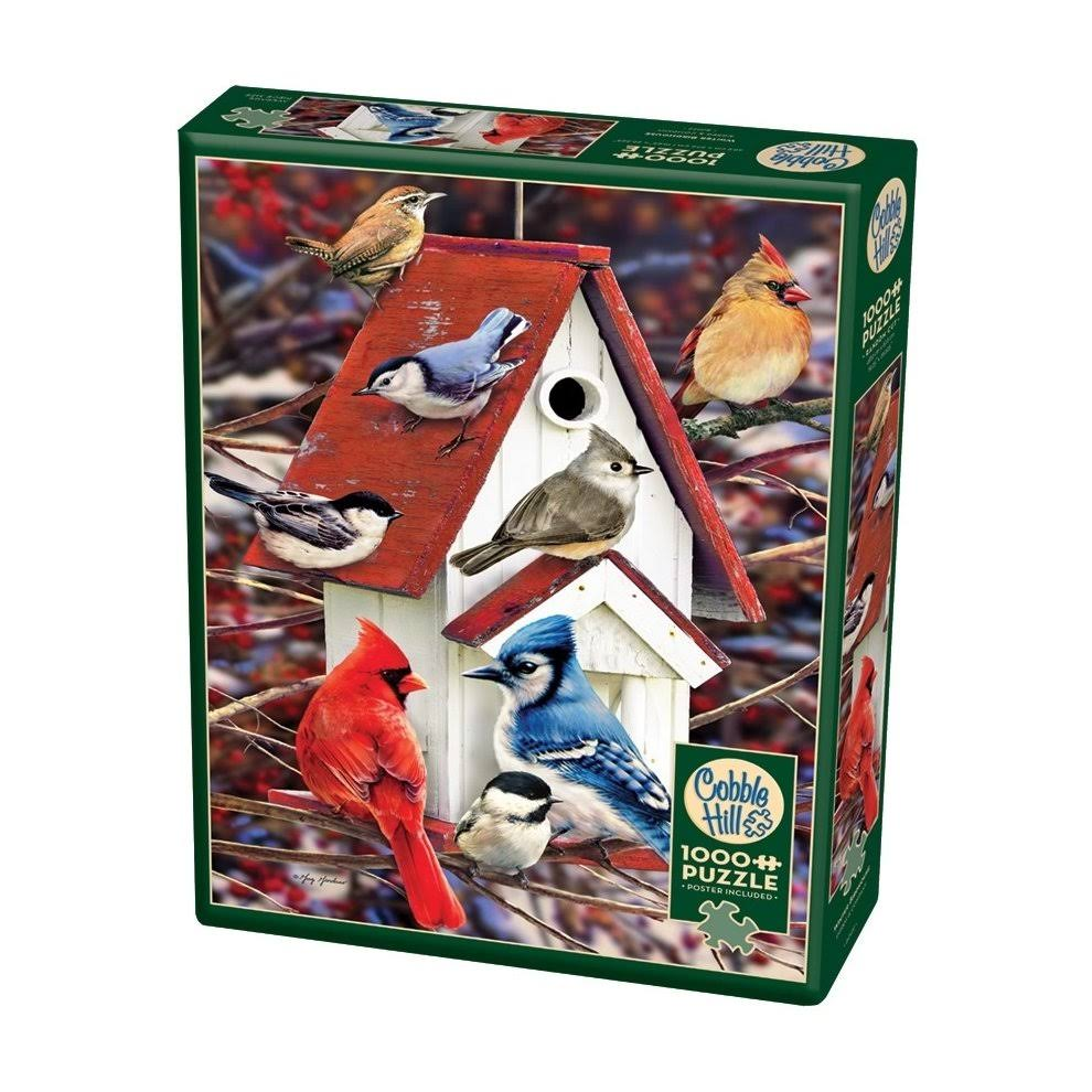 Cobble Hill Winter Birdhouse 1000 Piece Puzzle