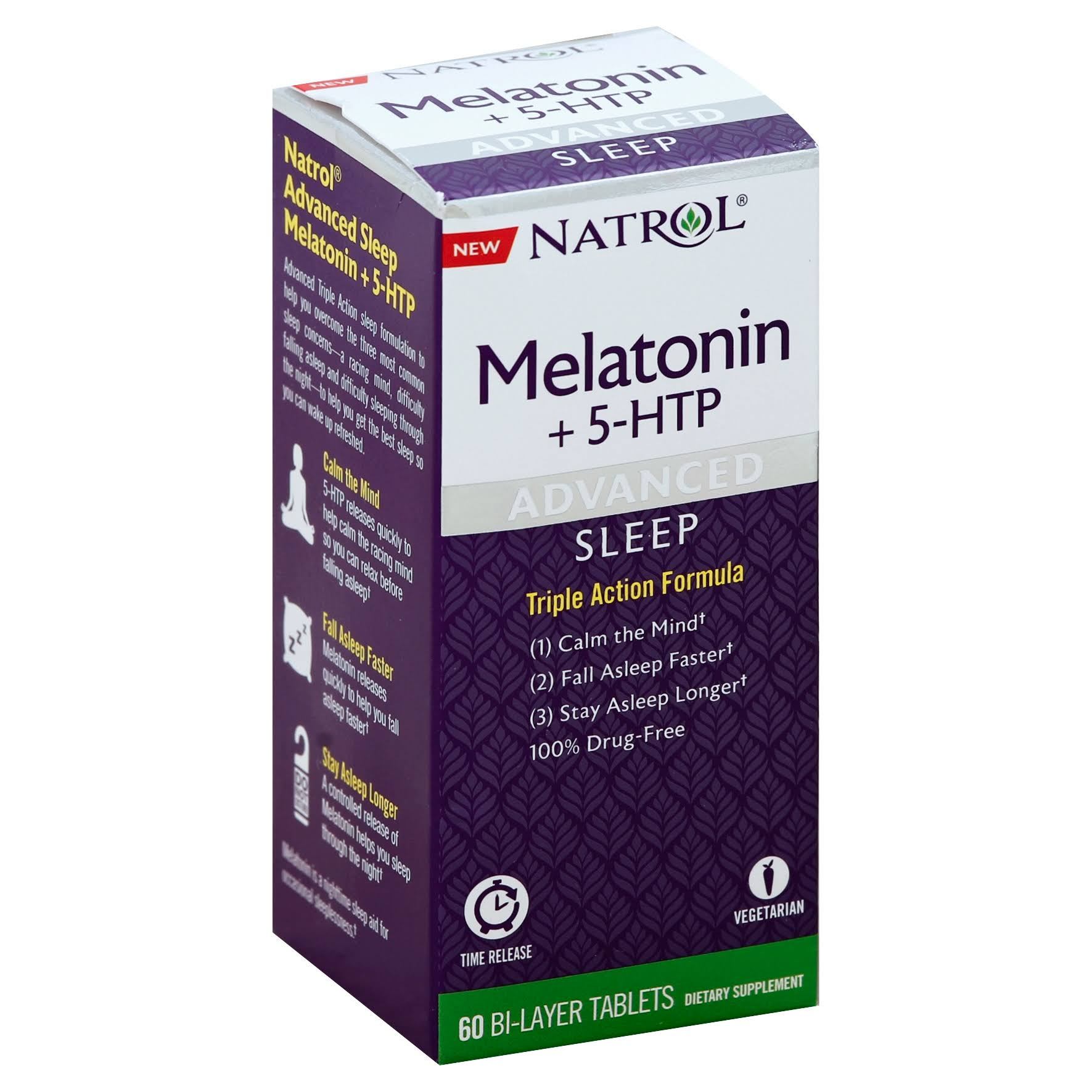 Natrol Advanced Sleep Melatonin Supplements - 60pcs