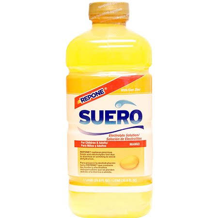 Suero Repone Mango Electrolyte Solution with Zinc - 33.8oz