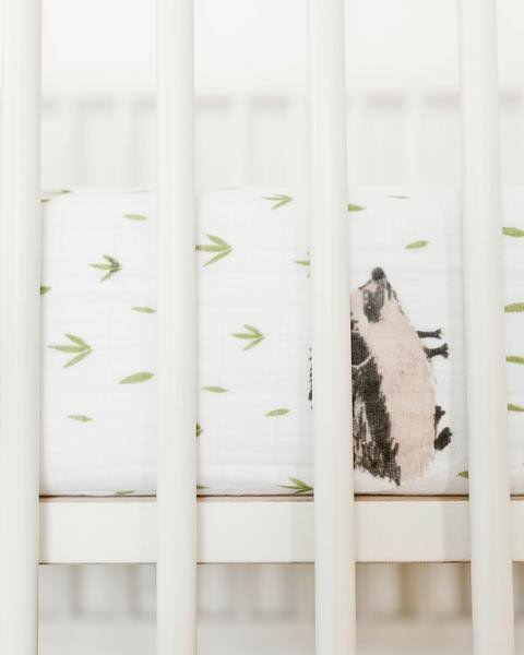 Little Unicorn Cotton Muslin Crib Sheet - Hedgehog