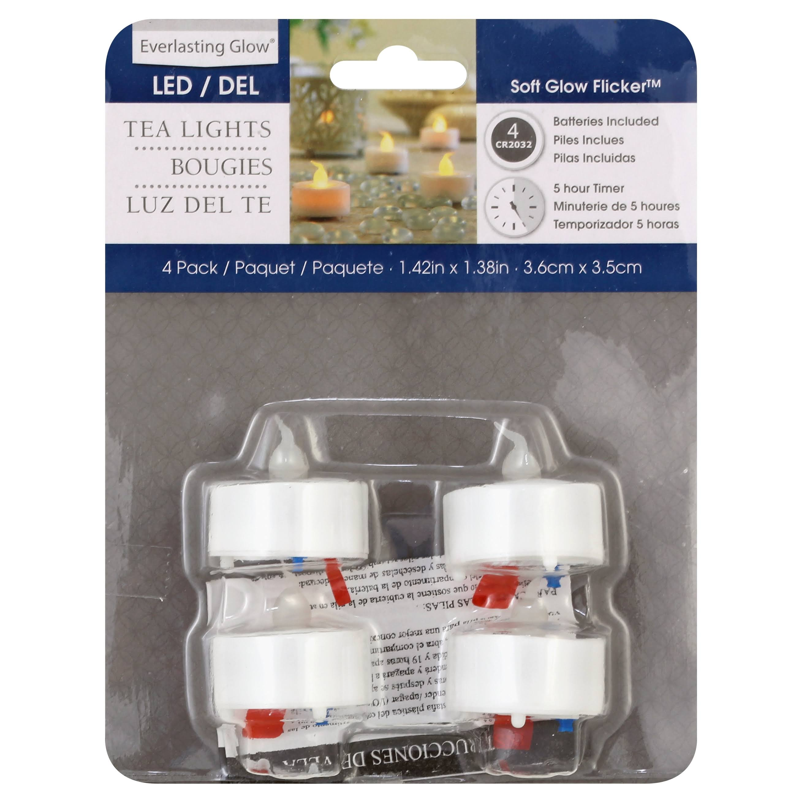 Everlasting Glow Tealight Candle - 4pk, with Timer