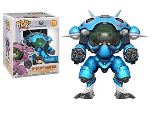 Funko Pop Games: Overwatch D.Va with Meka (Blueberry) 6-Inch Exclusive