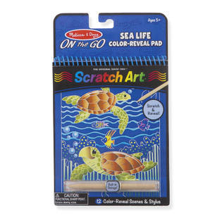 Melissa & Doug Sea Life Color-Reveal Scratch Art Activity Pad
